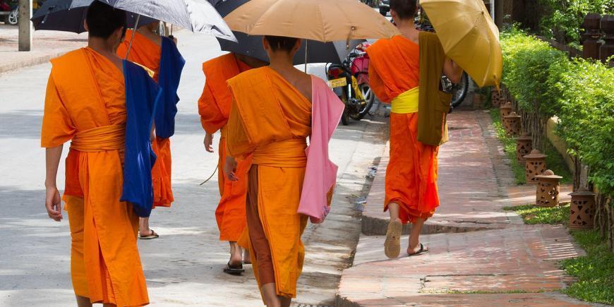 Luang Prabang Laos Buddhist Monks