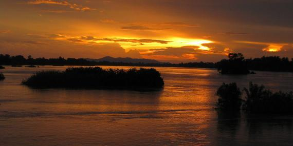 Sunset Mekong in Laos