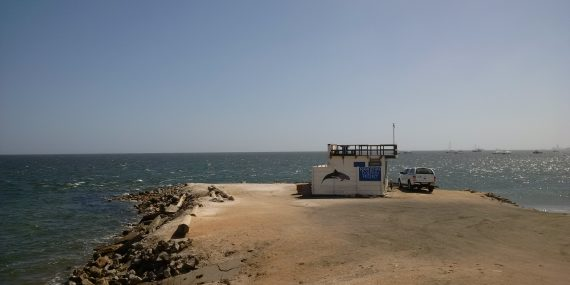 Dolphin research station on Namibia coast