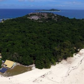 Cousin island from above