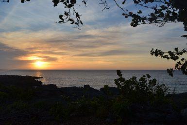 Sunset Cuba coast