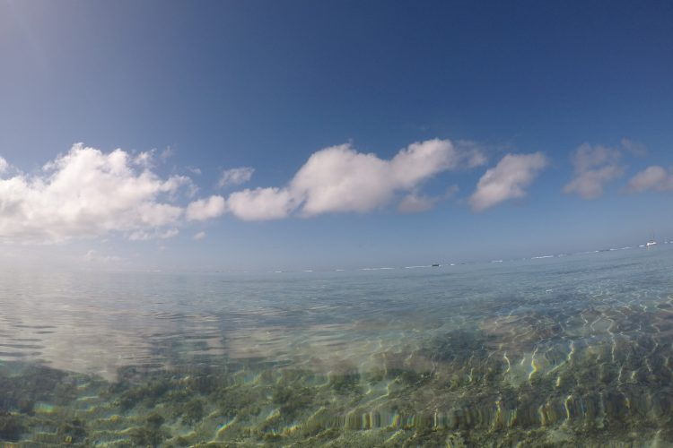 Above water in Mauritius