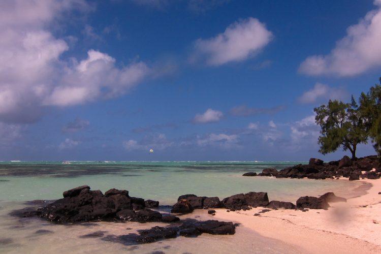 Beach at Blue Bay in Mauritius