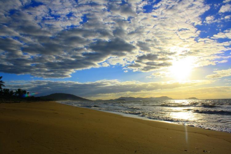 Beach sunrise in Australia