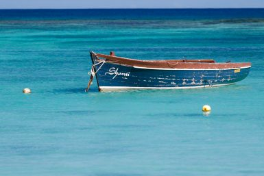 Boat in Mauritius