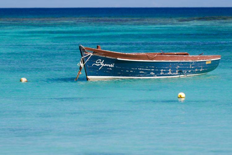 Boat in Mauritius