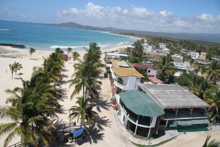 Beach front in Galapagos