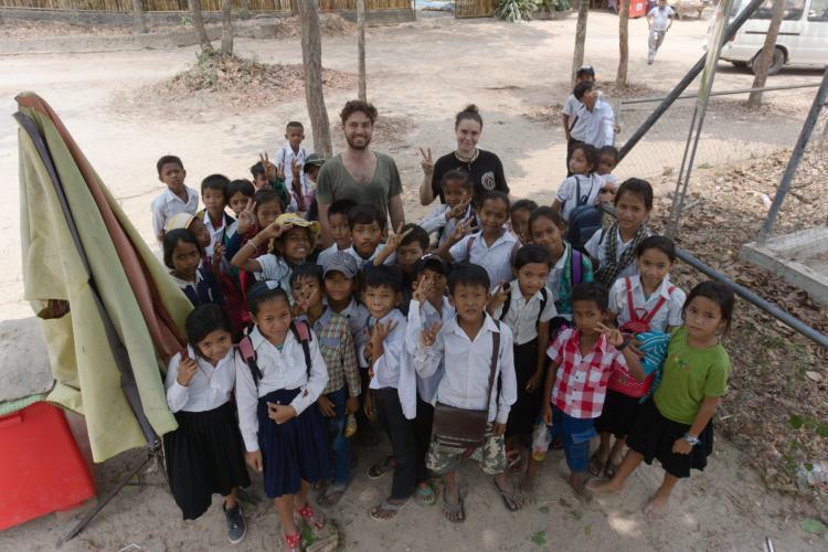 Local school children visiting sanctuary