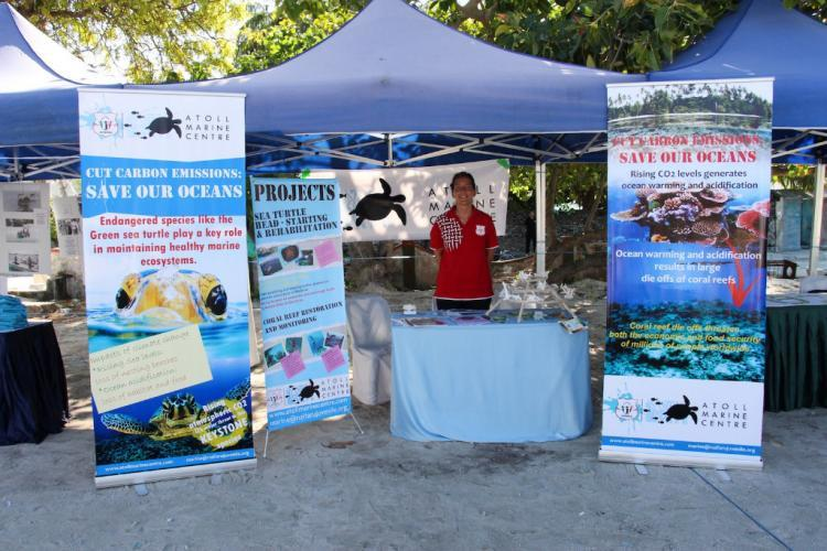 Marine conservation awareness stand