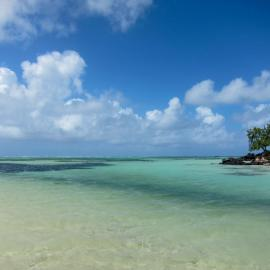 Turquoise waters in Mauritius