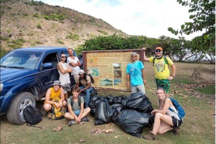 National Park volunteers in St. Eustatius