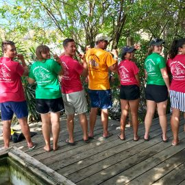 Volunteers with Reef Buddy tshirts