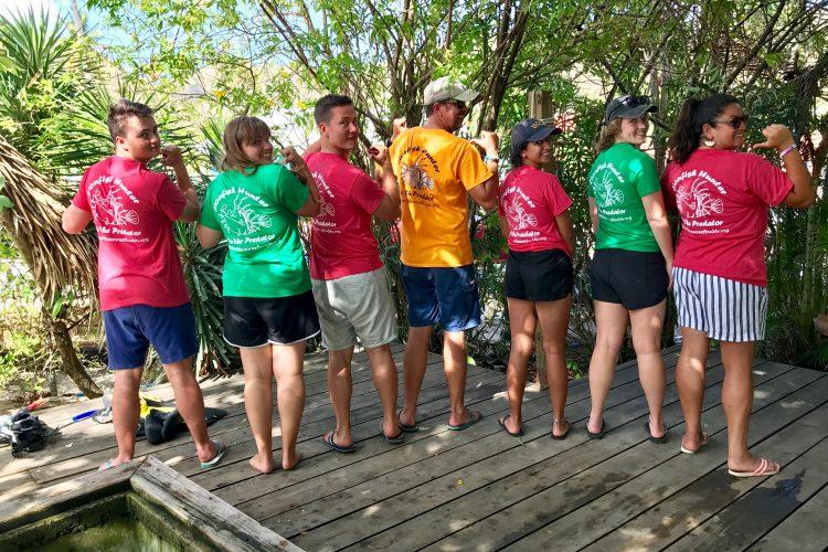 Volunteers with Reef Buddy tshirts