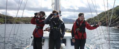 Research volunteers in the Hebrides
