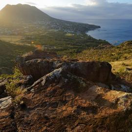 St Eustatius National park aerial view