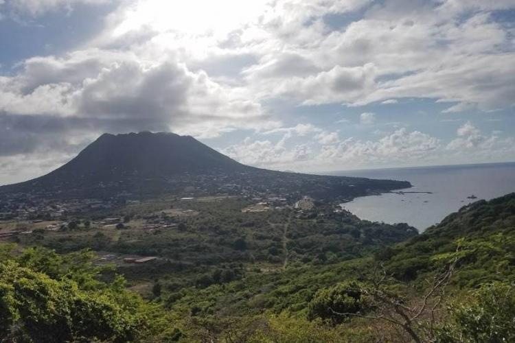 St. Eustatius landscape with clouds