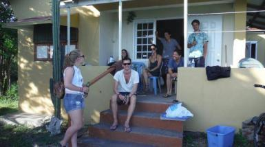 Volunteers at the shared house in St. Eustatius