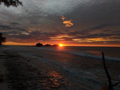 sunset Seychelles Cousin island