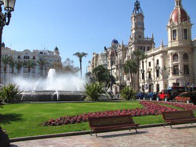 Valencia city square