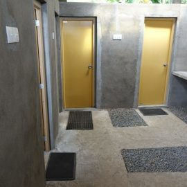 Volunteer accommodation bathroom