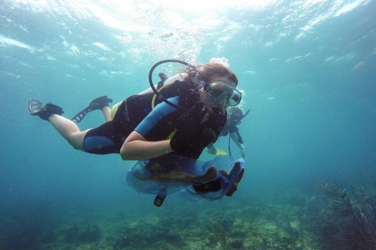 Al Reef Buddy volunteer in the Caribbean