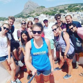 Volunteer group photo in Valencia