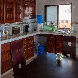 Volunteer house kitchen in Galapagos