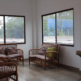 Volunteer house living area in Galapagos