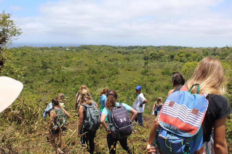 Conservation volunteers in Galapagos