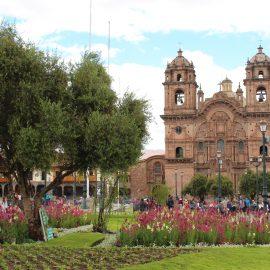 Church in Cusco square