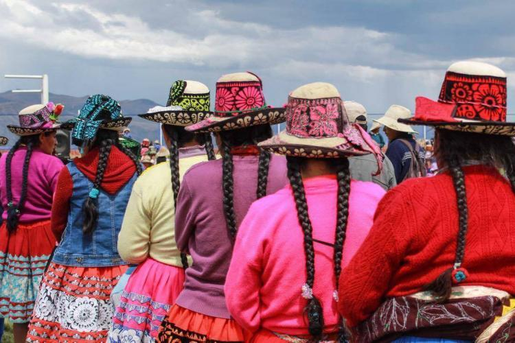 Colourful locals in Andes Cusco
