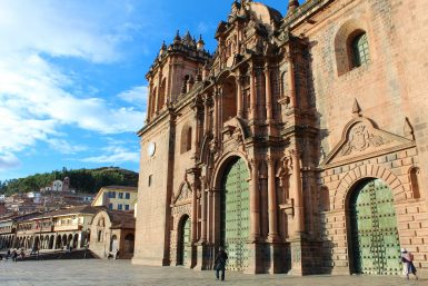 Cusco cathedral front