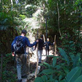 Family volunteering amazon rainforest peru