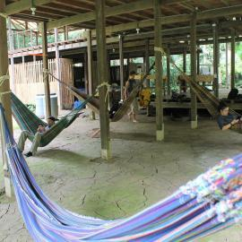 Hammock area for relaxing