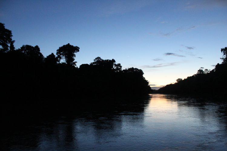 Las Piedras river sunset