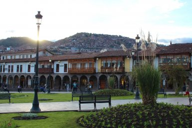 Plaza de Armas sunset