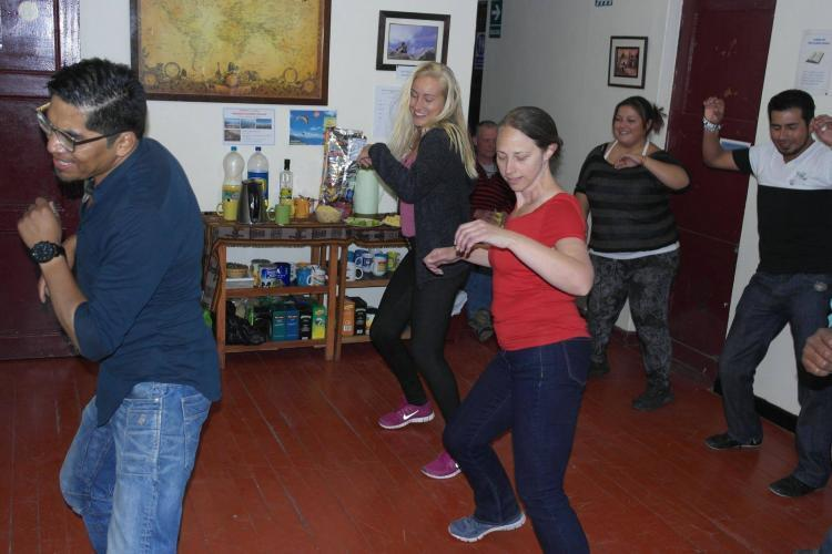 Salsa lessons for students