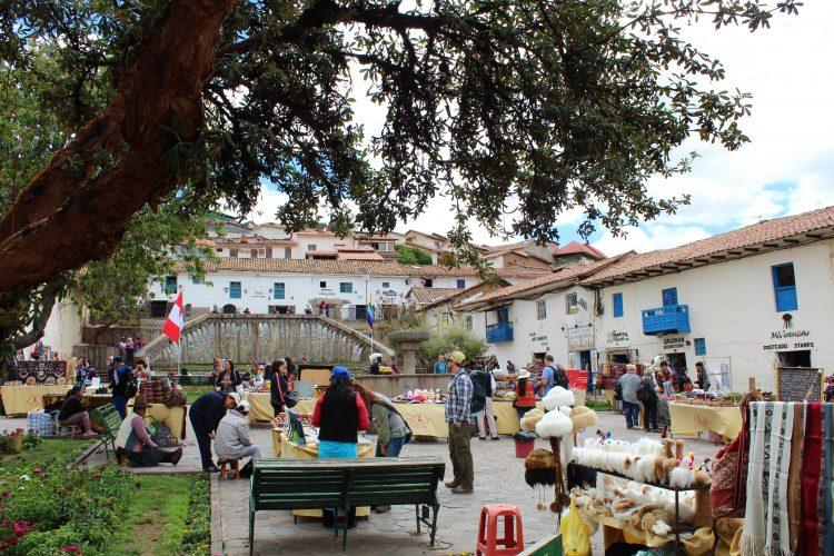 San blas market Cusco