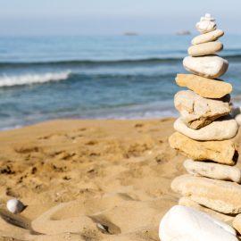 Stones on Beach in Argostoli