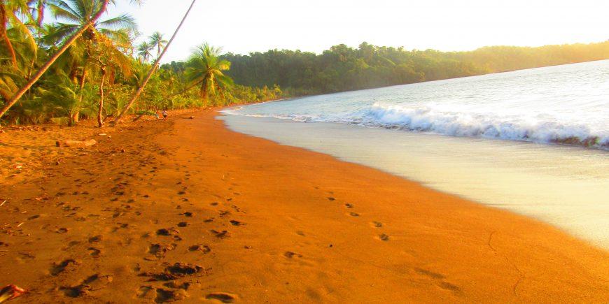 Sunset on beach in Costa Rica