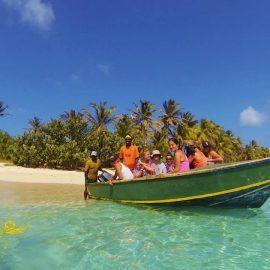 Boat trip to Sandy Island Grenada