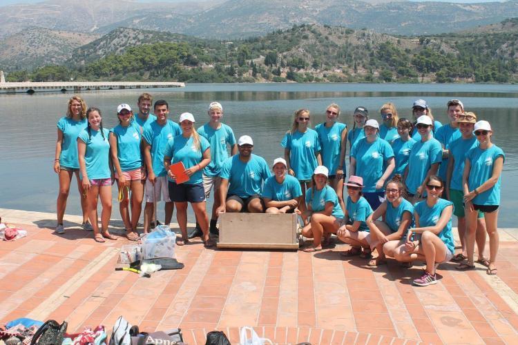 Sea turtle conservation volunteer group Kefalonia