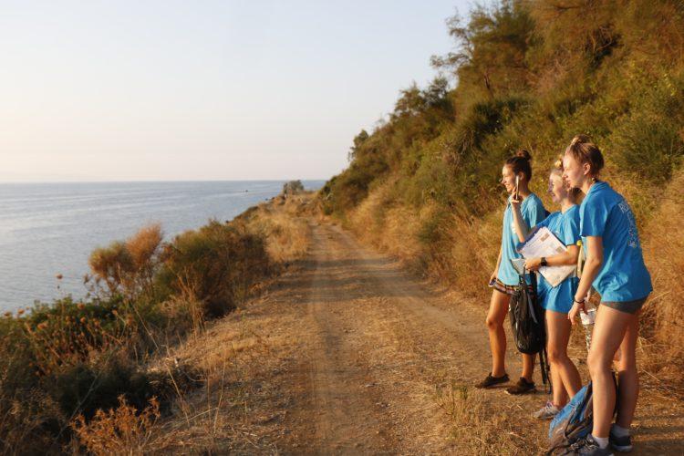 Volunteers on Greek coast