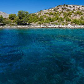 Turquoise waters in Croatia