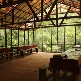 Camp dinner area