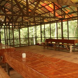 Camp eating area