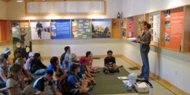 Galena Creek intern teaching kids