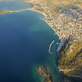 Aerial view of Vonitsa Greece