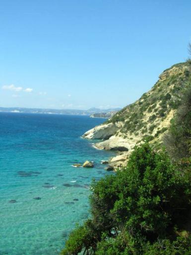 Kefalonia coastline in Greece