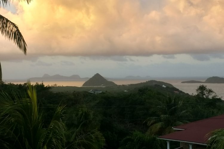 View from volunteer house in Grenada